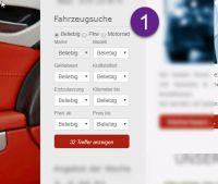 """Homepage Autohandel: Neues cmsCAR-Modul """"SucheBox Widget"""" für die Fahrzeugpräsentation"""