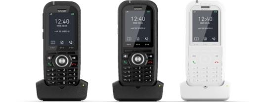 Für Innen und Außen, für Büro, Industrie und Klinik: Snom mit neuen DECT-Handsets aus der M-Serie