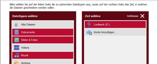 Einfache Datensicherung: Backup-Erstellung per Klick über nur noch 3 Buttons