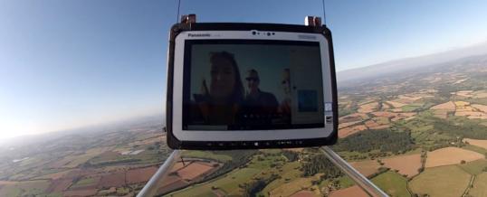 IT-Lösung mit Panasonic Toughbook besteht Extremtest in der Stratosphäre
