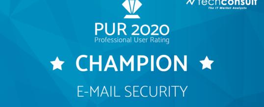NoSpamProxy zum dritten Mal Champion in unabhängiger Nutzerbefragung für E-Mail-Security