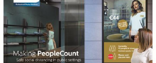 PeopleCount mit Philips Professional Display Solutions