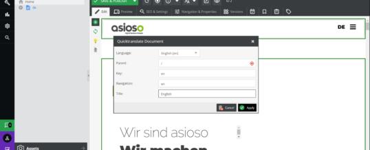 asioso entwickelt DeepL QuickTranslate für Pimcore