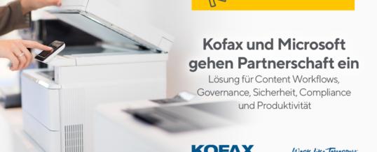 Kofax und Microsoft gehen Partnerschaft ein