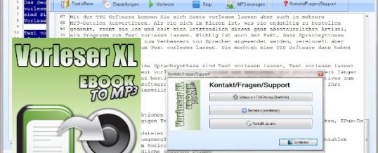 Text in Sprache mit Vorleser XL