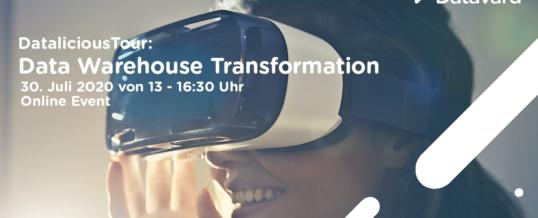 Datavard setzt Datalicious Tour virtuell fort