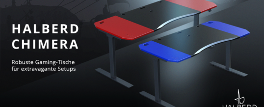 Neu bei Caseking: robuste Halberd Chimera Gaming-Tische!