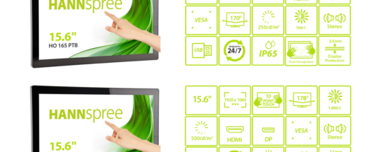 HANNspree stellt neue Open-Frame-Touchscreen-Monitore vor