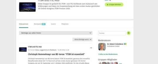 ITSM und ITIL mit 3D Kongress bei XING und LinkedIn online