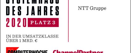 NTT Group auf Platz 3 im Gesamt-Ranking der besten Systemhäuser
