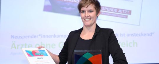 Ärzte ohne Grenzen mit dem GRÜN Fundraising Award ausgezeichnet