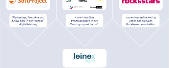 Neue Digitalisierungspartnerschaft leinex.digital mischt den Energiemarkt auf
