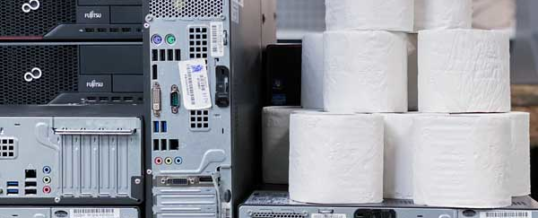 Toilettenpapier vs. gebrauchte IT-Hardware