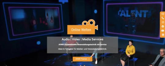 AVMS Audio Video Media Services präsentiert sich mit einer neuen Website