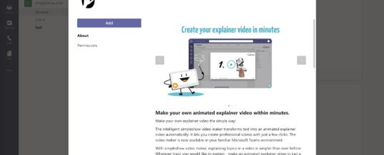simpleshow video maker ermöglicht Erstellung animierter Erklärvideos direkt in Microsoft Teams