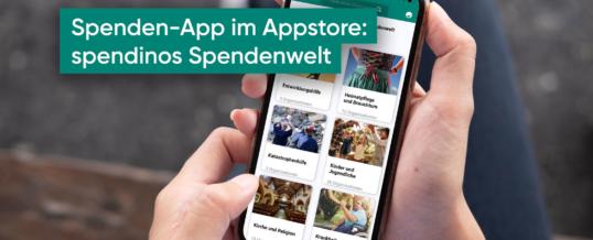 Mobil spenden mit der GRÜN spendino App