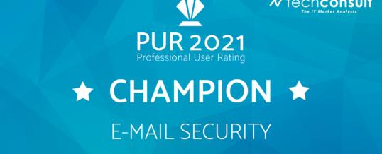 NoSpamProxy erneut Champion in unabhängiger Nutzerbefragung für E-Mail-Security
