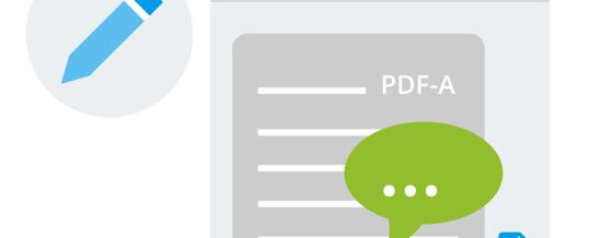 ecoDMS PDF-Editor: Archivierte PDFs mit individuellen Stempeln und Kommentaren versehen