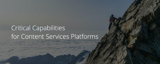 M-Files schneidet im Critical Capabilities Report for Content Services Platforms 2020 von Gartner hervorragend ab