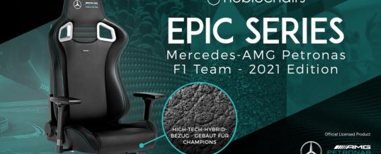 Neu bei Caseking: Der noblechairs EPIC in der offiziellen Mercedes-AMG Petronas Formula One Team – 2021 Edition