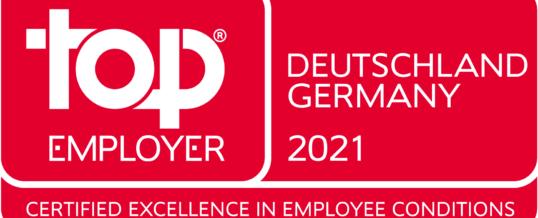 NTT DATA Deutschland 2021 zum fünften Mal als Top Employer ausgezeichnet