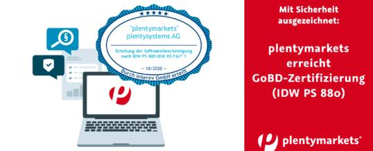 Ausgezeichnete Sicherheit: plentymarkets erhält GoBD-Zertifizierung (IDW PS 880)