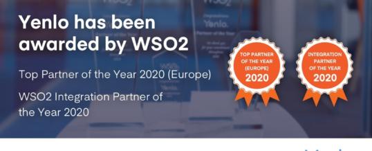 """Yenlo zum """"WSO2 Top Partner of the Year"""" gewählt – zum dritten Mal in Folge (Europa)"""