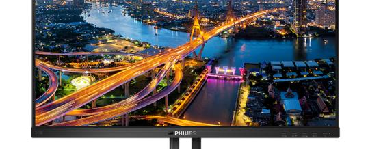 Komfortabel, grün, stark: Philips Monitor 243B1JH mit Hybrid-USB-Anschluss und sicherer Webcam