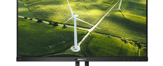 Supergrün, sparsam und doch voller Profi-Power: der 24″ Monitor Philips 242B1G