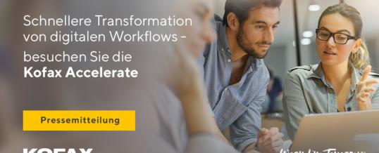 Schnellere Transformation von digitalen Workflows auf der Kofax Accelerate