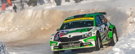 Arctic Rallye Finnland: Von SKODA Motorsport unterstützter Andreas Mikkelsen baut Führung in der WRC2-Gesamtwertung aus
