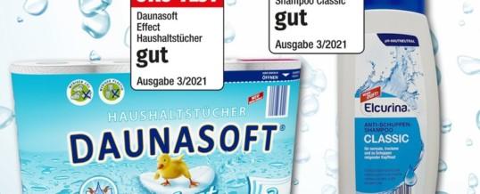 """NORMA: Shampoo und Haushaltstücher der Eigenmarken ELCURINA und DAUNASOFT von ÖKO-TEST für """"gut"""" befunden / Nürnberger Lebensmittel-Discounter zum dritten Mal in 2021 auf Spitzenplätzen im Testmagazin"""
