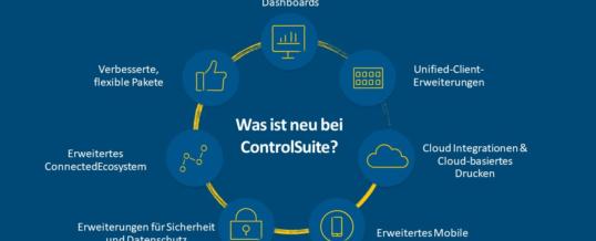 Kofax ControlSuite beinhaltet ab sofort Cloud-Integrationen, Analyse-Dashboards und Unified Clients