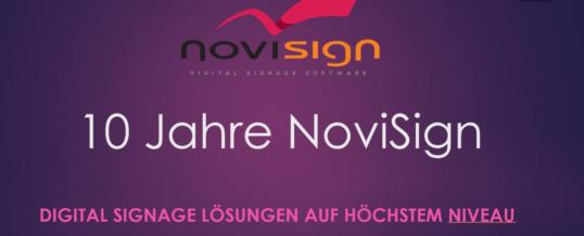 NoviSign – Digital Signage auf höchstem Niveau – seit über 10 Jahren