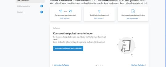 Neuer fino-Kontowechselservice ab sofort mit Status-Überblick