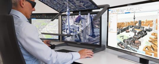Esri ArcGIS Pro zertifiziert für die 3D-Stereo Visualisierung mit dem 3D PluraView Monitor