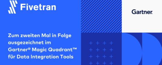 Fivetran ausgezeichnet im Gartner® Magic Quadrant™ für Data Integration Tools 2021