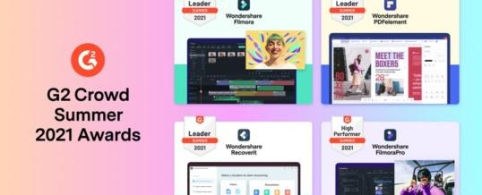 Wondershare wird bei den G2 Crowd Summer 2021 Awards als Leader und High Performer ausgezeichnet